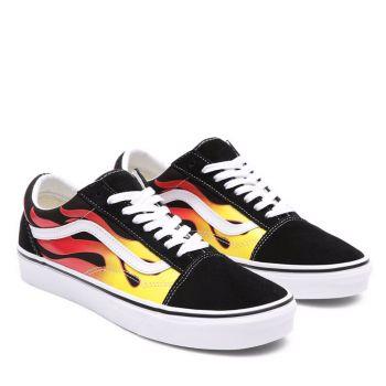 Scarpe Unisex VANS Sneakers Old Skool stampa Flame