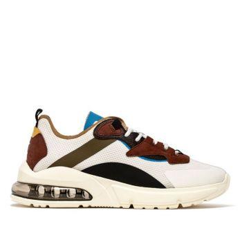 Scarpe Uomo D.A.T.E. Sneakers linea Aura Net colore White Army