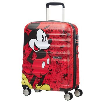 American Tourister Disney Mickey Comics Red  – Hardside Cabin Suitcase 55cm 4-wheel Lightweight 2.6kg