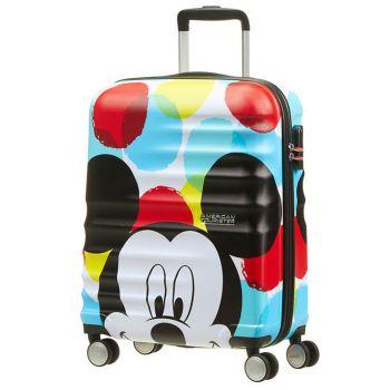 Trolley Cabina 55cm 4 Ruote Leggero 2,6kg - American Tourister Disney Mickey Close-Up