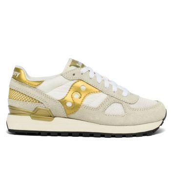 Scarpe Donna Saucony Sneakers Shadow Original White - Gold