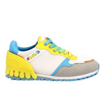 Scarpe Bambino LIU JO Sneakers Me Contro Te colore White - Orange