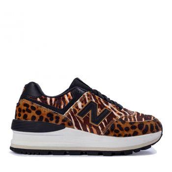 NEW BALANCE 574 Line – Nabuk Animalier Sneakers for Women