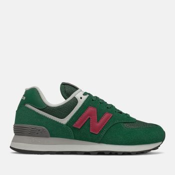 Scarpe Donna NEW BALANCE Sneakers 574 in Suede e Mesh colore Nightwatch Green