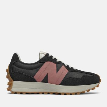Scarpe Donna NEW BALANCE Sneakers 327 in Suede e Mesh colore Black e Washed Henna