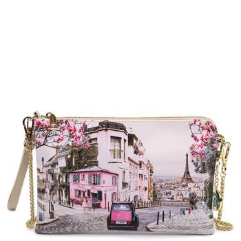 Borsa Donna Y NOT Pochette con Tracolla YES-303 Paris Charleston