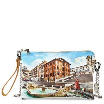 Borsa Donna Y NOT Pochette con Tracolla YES-303 Rome Fountain