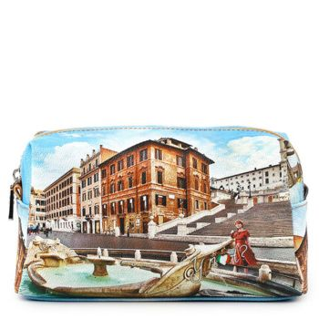 Beauty Medio con Zip Y NOT stampa Rome Fountain YES-302