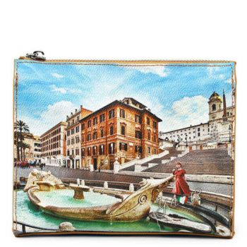 Beauty con Zip Y NOT stampa Rome Fountain YES-305