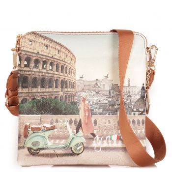 Borsa Donna Y NOT Bandoliera a Tracolla YES-314 Walk In Rome