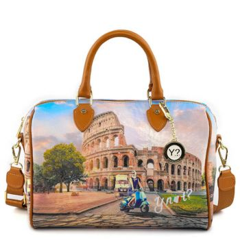 Borsa Donna Y NOT Bauletto Medio con Tracolla YES-318 Rome Vita