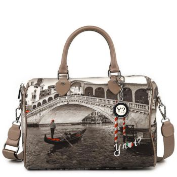 Borsa Donna Y NOT Bauletto Medio con Tracolla YES-318 Venice Bridge