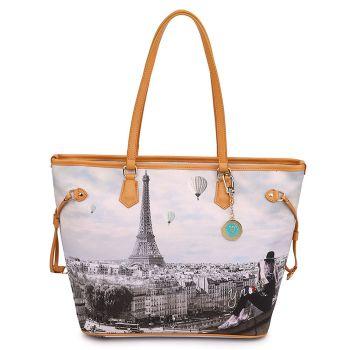 Borsa Donna Y NOT Shopping Grande a Spalla YES-319 Ciel De Paris
