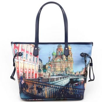 Borsa Donna Y NOT Shopping Grande a Spalla YES-319 Saint Petersburg