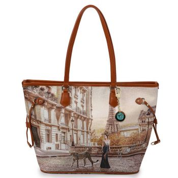 Borsa Donna Y NOT Shopping Grande a Spalla YES-319 Sauvage