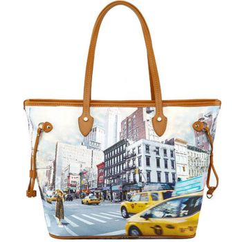 Borsa Donna Y NOT Shopping Media a Spalla YES-336 New York Tower