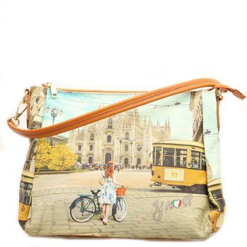 Borsa Donna Y NOT a Spalla con Tracolla Media - L-321 Fashion Tram