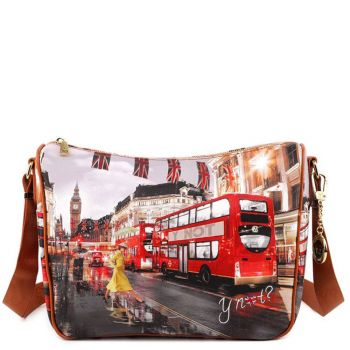 Borsa Donna Y NOT a Tracolla Regolabile linea YES-370 London Yellow Tranch