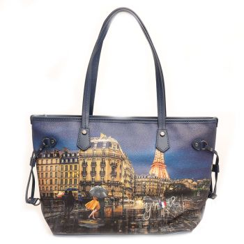 Borsa Donna Y NOT Shopping Media a Spalla YES-336 Midnight in Paris