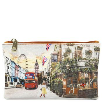 Bustina Pochette Y NOT Trousse con Zip YES-341 London Pub