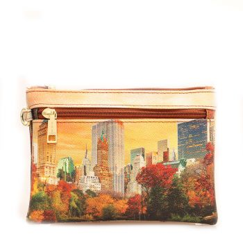 Pochette Media Donna con Zip Y NOT Y YES-343 New York Central Park