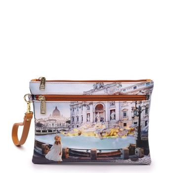 Pochette Donna con Zip Y NOT YES-342 Roma Trevi