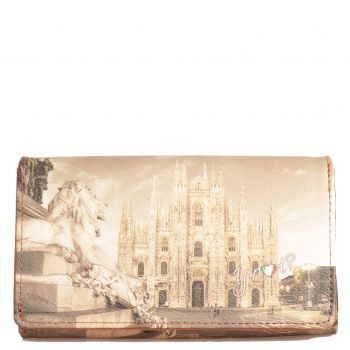 Portafoglio Donna con Bottone Y NOT YES-364 Milano Lion