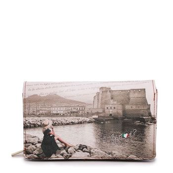 Portafoglio Donna con Bottone Y NOT YES-364 Napoli Castel