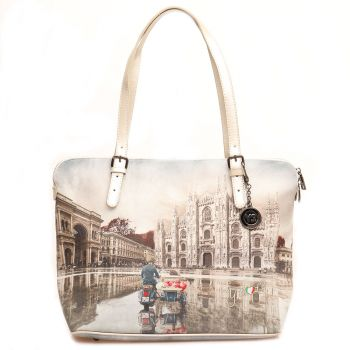 Borsa Donna Grande a Spalla Y NOT YES-377 Milano Race