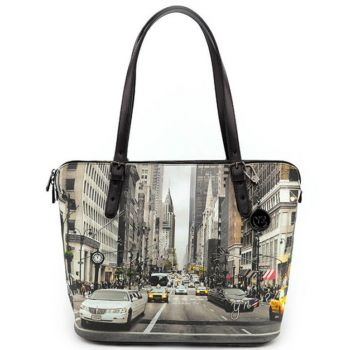 Borsa Donna Grande a Spalla Y NOT YES-377 New York Street Style
