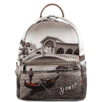 Zaino Donna Piccolo Y NOT con Tasca Esterna YES-380 Venice Bridge