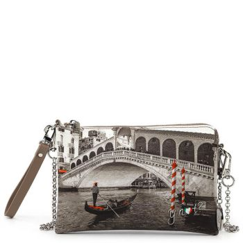 Borsa Donna Y NOT Pochette con Tracolla YES-384 Venice Bridge