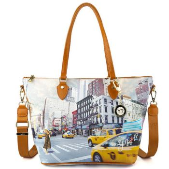 Borsa Donna Y NOT Shopping Media a Spalla con Tracolla YES-396 NY Tower