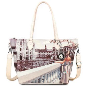 Borsa Donna Y NOT Shopping Media a Spalla con Tracolla YES-396 Milan View
