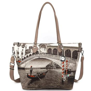 Borsa Donna Y NOT Shopping a Spalla con Tracolla YES-397 Venice Bridge