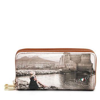 Portafoglio Donna con Doppia Zip Y NOT YES-568 Napoli Castel