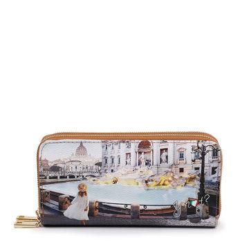 Portafoglio Donna con Doppia Zip Y NOT YES-568 Roma Trevi
