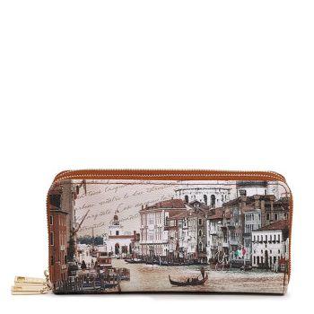 Portafoglio Donna con Doppia Zip Y NOT YES-568 Venezia Canal Grande