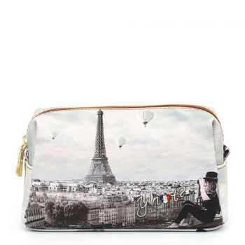 Beauty Medio con Zip Y NOT YES-302 stampa Ciel de Paris