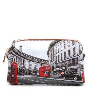 Beauty Medio con Zip Y NOT YES-302 stampa London Regent Street