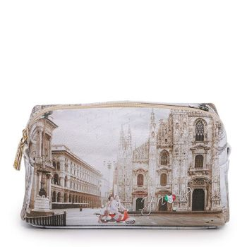 Beauty Medio con Zip Y NOT YES-302 stampa Milano Classic