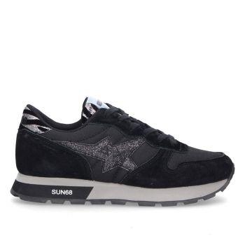 Scarpe Donna Sun68 Sneakers Ally Star Girl Zebra Nero