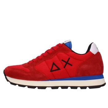 Scarpe Uomo Sun68 Sneakers Tom Solid Nylon Colore Rosso - Z41101