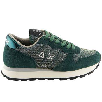 Scarpe Donna Sun68 Sneakers Ally Thin Glitter Colore Verde Scuro