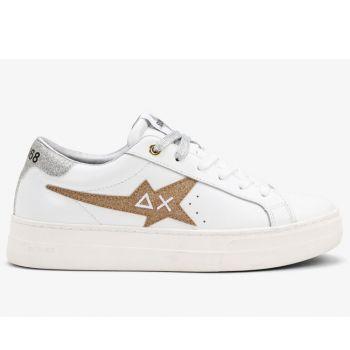Scarpe Donna Sun68 Sneakers Betty Colore Bianco - Oro