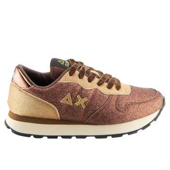 Scarpe Donna Sun68 Sneakers Ally Glitter Colore Volpe