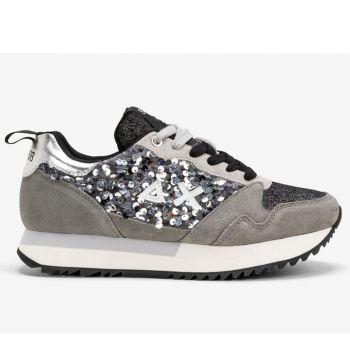 Scarpe Donna Sun68 Sneakers Kelly Paillettes Grigio Medio