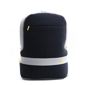 """Zaino Unico Scomparto con Porta Pc 15,6"""" e Tasca RFID - NAVA Linea Easy Break Colore Blue - Grey - Lime"""