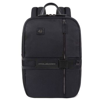 PIQUADRO Tokyo Line – Black Fabric and Leather Backpack CA4917S107