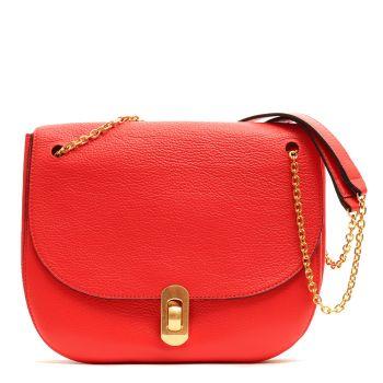 Borsa Donna con Tracolla a Catena COCCINELLE in Pelle Linea Zaniah colore Polish Red